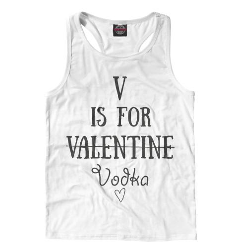 Майка борцовка Print Bar V значит Vodka vodka politics
