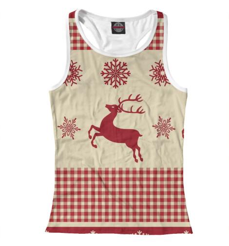 Майка борцовка Print Bar Новогодние олени футболка print bar олени
