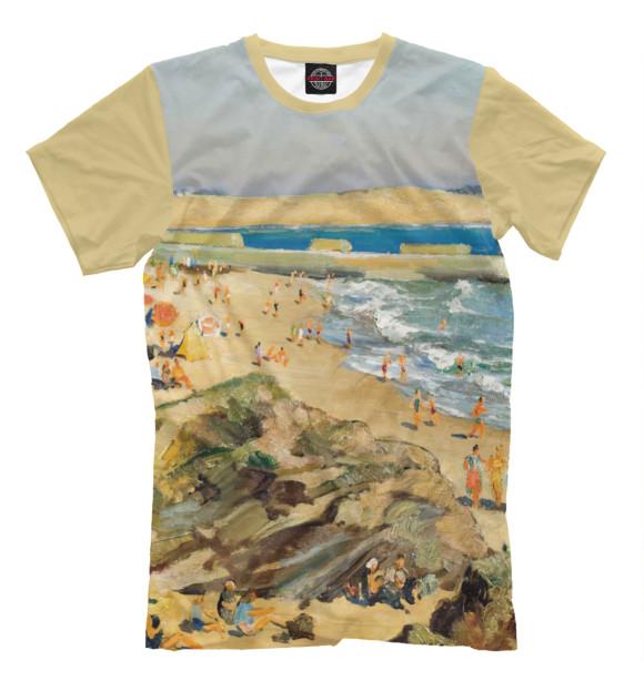 Купить Мужская футболка Пляж GHI-250680-fut-2
