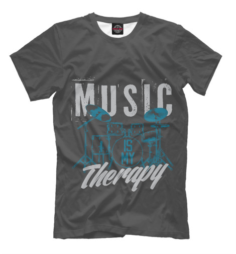 Футболка Print Bar Music therapy свитшот print bar music therapy