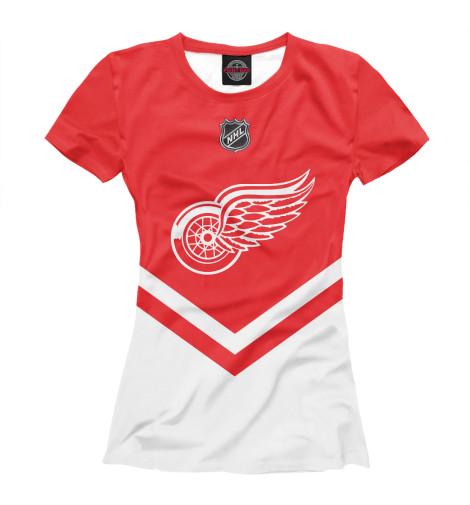 Футболка Print Bar Detroit Red Wings футболка wearcraft premium printio detroit red wings nhl usa