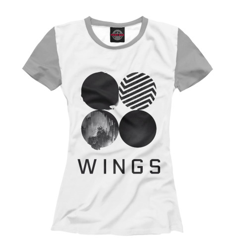 Футболка Print Bar Wings BTS 2017 bts live trilogy episode iii the wings tour in seoul release date 2017 11 01