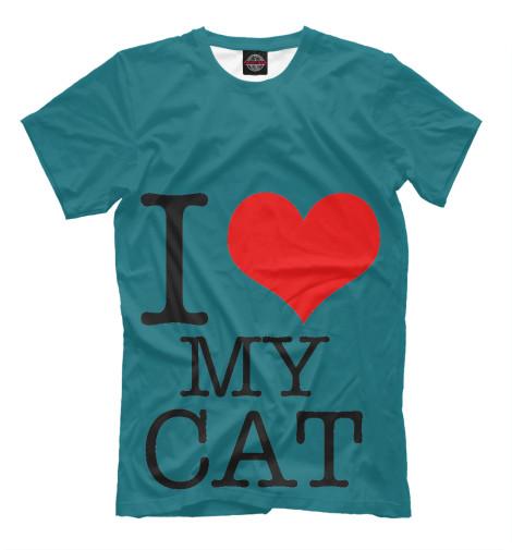Футболка Print Bar i love my cat футболка print bar i love my beard