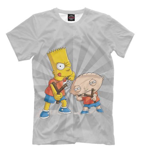 Футболка Print Bar Stewie and Bart футболка print bar stewie and bart