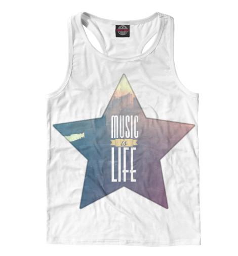 Майка борцовка Print Bar Music is life свитшот print bar music is life
