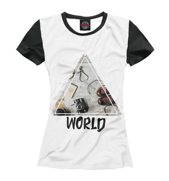 Купить Женская футболка Мир APD-725521-fut-1