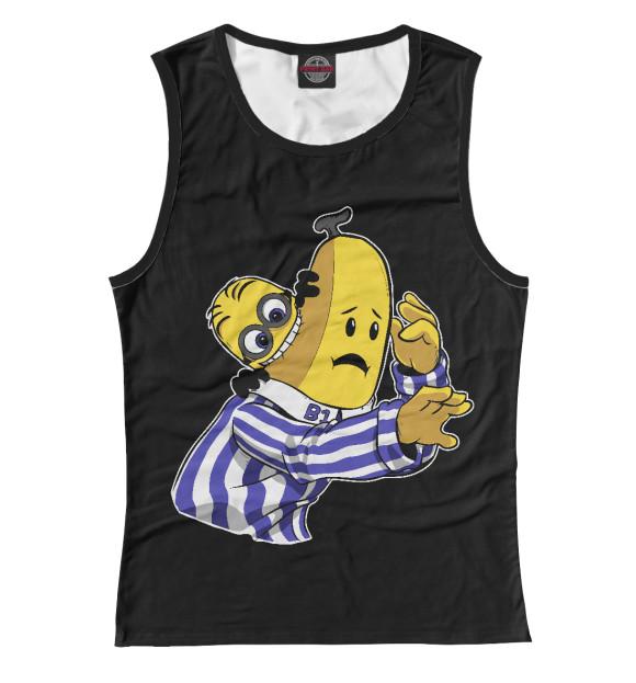 Купить Женская майка Миньон и Банан MIN-117390-may-1