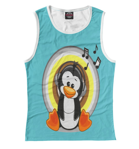 Майка Print Bar penguin пинетки митенки blue penguin puku
