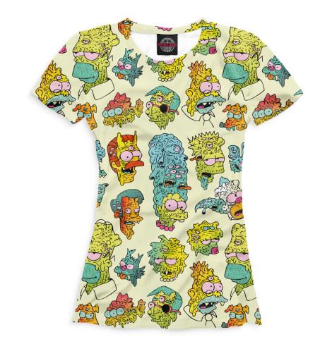 Женская футболка Монстро-Симпсоны