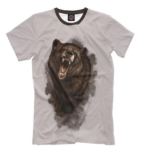 Футболка Print Bar Бурый медведь майка борцовка print bar бурый медведь