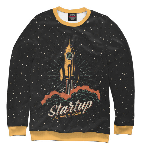 Свитшот Print Bar Startup Space the $100 startup