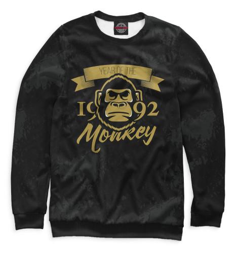 Свитшот Print Bar Год обезьяны — 1992 за сколько можно 50 копеек за 1992 год