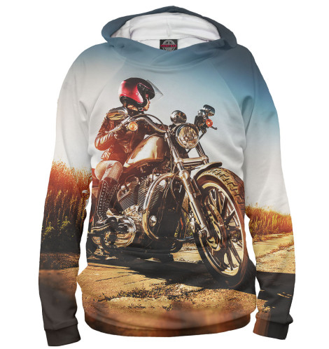 Женское худи Девушка на мотоцикле