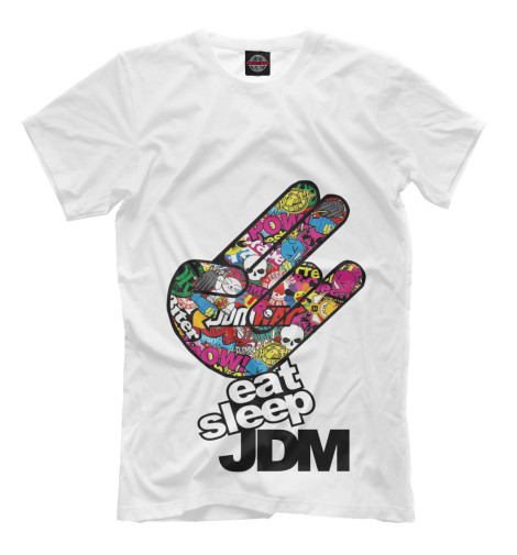Футболка Print Bar Eat Sleep JDM футболка print bar we eat rhythm