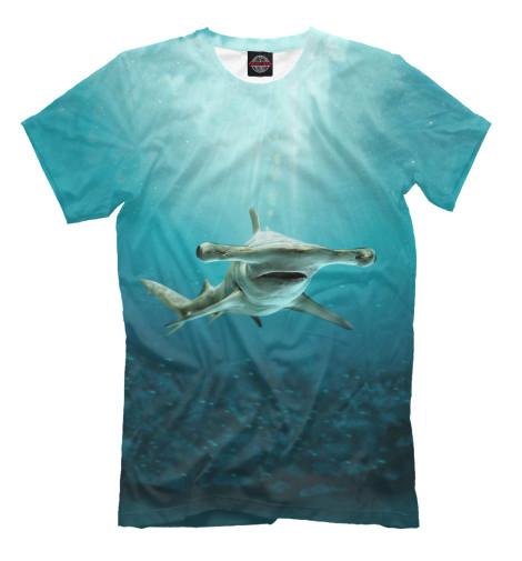 Футболка Print Bar Акула молот футболка wearcraft premium slim fit printio акула