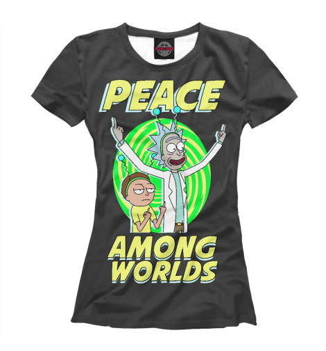 Купить Женская футболка Peace among worlds RNM-170823-fut-1
