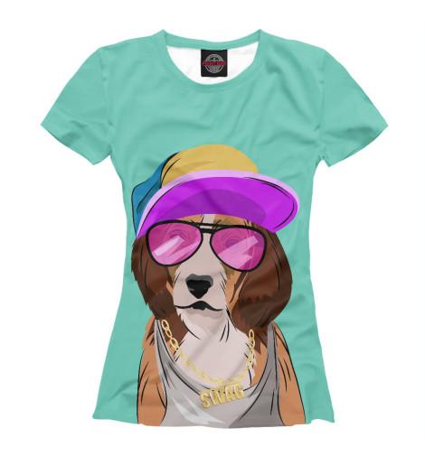 Футболка Print Bar Собака, одетая в стиле хип-хоп детская одежда студенты для мальчиков хористов исполняющие джазовые танцы в стиле хип хоп