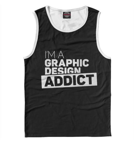 Майка Print Bar Graphic design addict graphic print fit