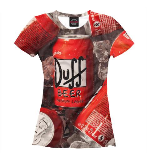 Футболка Print Bar Duff Beer свитшот print bar duff beer