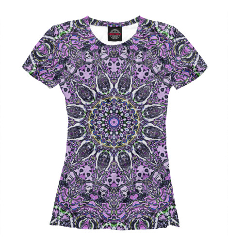 Футболка Print Bar Purple mandala майка print bar purple mandala