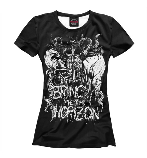 Футболка Print Bar Bring Me the Horizon футболка для беременных printio мишка me to you