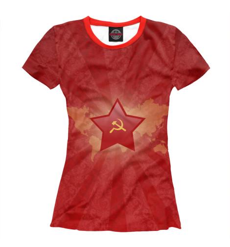 Футболка Print Bar Красная звезда футболка 501 красная