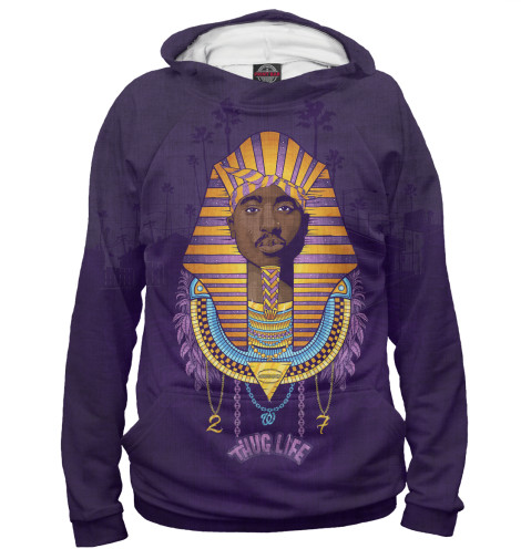 Худи Print Bar Tupac Pharaoh лонгслив printio 2pac tupac