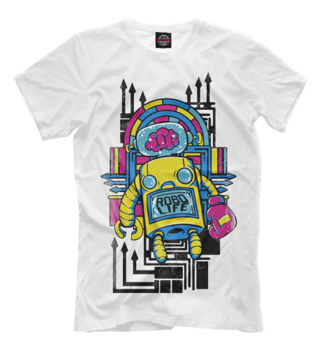 Футболка Print Bar Robo Life оправа pretty mania pretty mania mp002xw13zcy