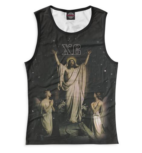 Майка Print Bar Христос Воскрес вышивка бисером молящийся христос