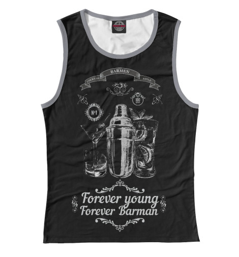 Майка Print Bar Forever young, forever Barman худи print bar forever young