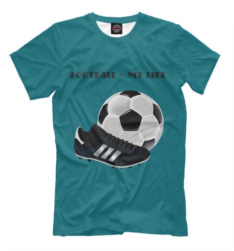 Футболка Print Bar Футбол-моя жизнь журно дюрей а моя новая жизнь