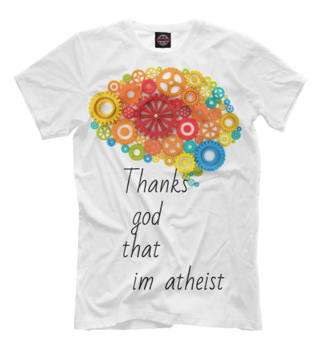 Футболка Print Bar Thanks god that im atheist norman god that limps – science and technology i n the eighties