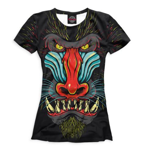 Женская футболка Обезьяны