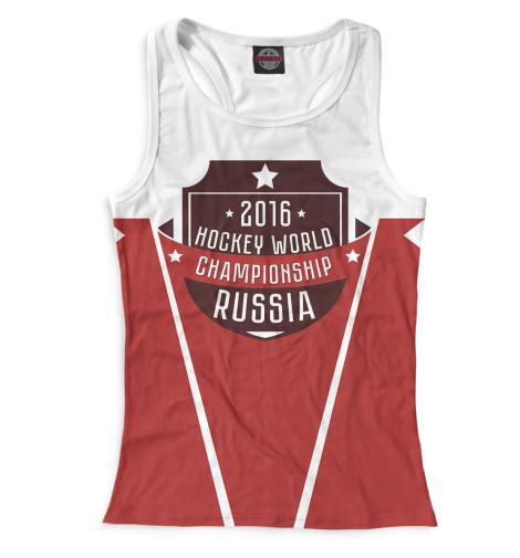 Женская майка-борцовка Россия 2016