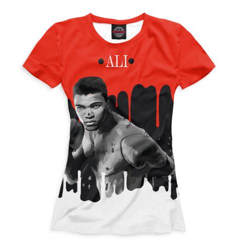 Женская футболка Мухаммед Али