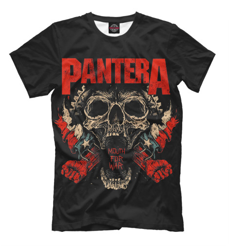 Футболка Print Bar Pantera Mouth For War худи print bar pantera cowboys from hell