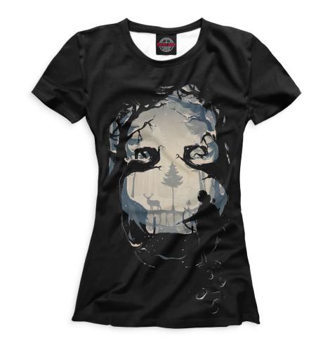 Женская футболка Зимняя охота