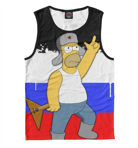 Купить Мужская майка Russian Homer SIM-211729-may-2