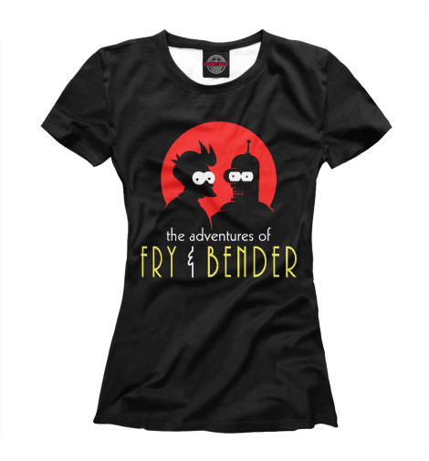 Футболка Print Bar Fry & Bender футболка print bar ювентус