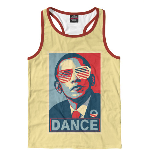 Майка борцовка Print Bar Обама dance майка print bar dance dance dance to the distortion