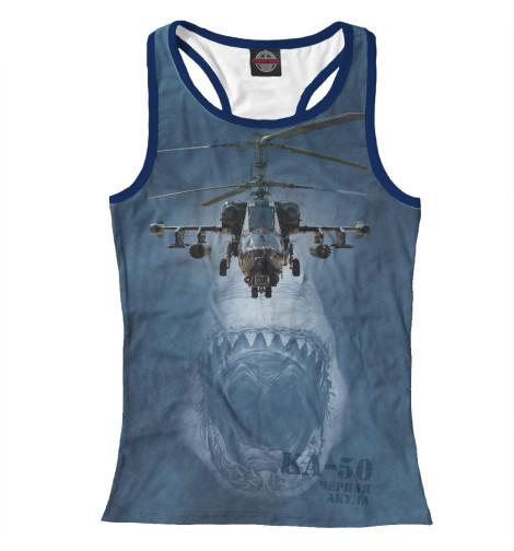 Майка борцовка Print Bar Вертолет -50 «Черная акула»