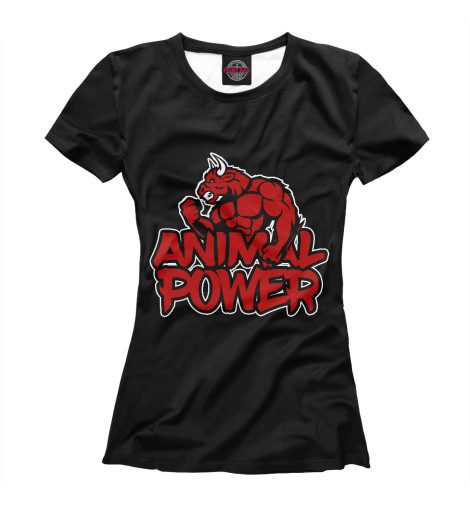 Футболка Print Bar Animal power блокнот printio сонный блокнот
