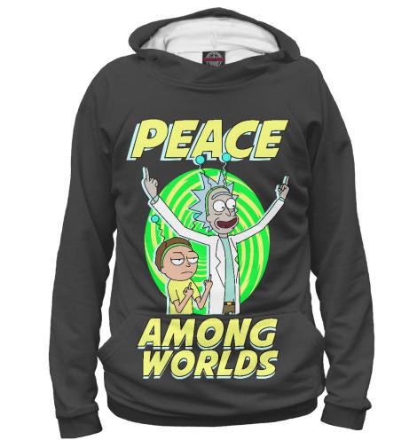 Худи Print Bar Peace among worlds african peace