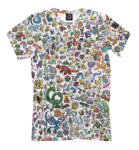 Футболка Print Bar Pokemon футболка wearcraft premium slim fit printio pokemon master