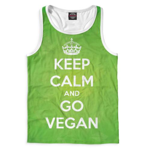 Майка борцовка Print Bar Keep Calm And Go Vegan свитшот print bar go vegan