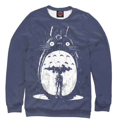 Свитшот Print Bar Totoro in Rain rain drops in her heart
