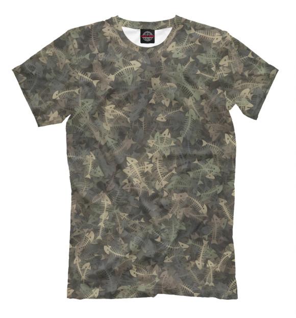Купить Мужская футболка Камуфляж с рыбьими скелетам APD-167708-fut-2