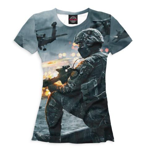 Футболка Print Bar Battlefield 4 худи print bar battlefield 4 war