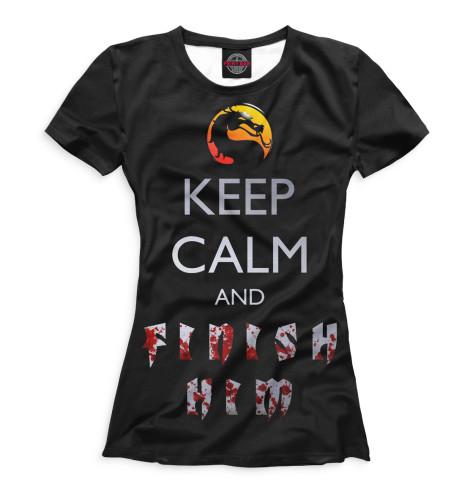 Женская футболка Finish Him