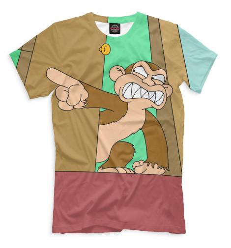 Мужская футболка Злая обезьяна